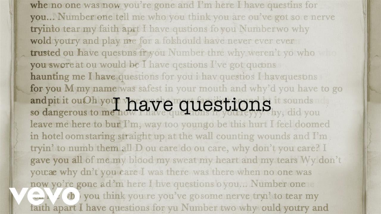 Camila Cabello I Have Questions Traduzione In Italiano